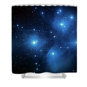 Star Cluster Pleiades Seven Sisters Shower Curtain by Jennifer Rondinelli Reilly - Fine Art Photography