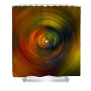 Star Cradle Spin Art Shower Curtain