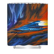 Star Cruiser Shower Curtain by James Christopher Hill