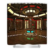 Star Drive Accelerator Shower Curtain
