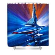 Star Drive Shower Curtain