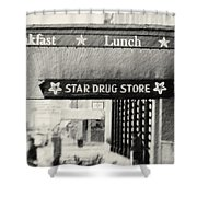 Star Drug Store Marquee Shower Curtain