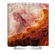 Star Dust Angel - Desert Shower Curtain