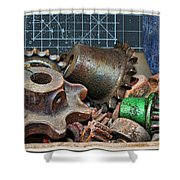 Star Gears Shower Curtain