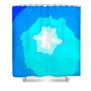 Star In The Morning Sky - Painting Like Photograph Of The Sun In The Morning Sky Shower Curtain