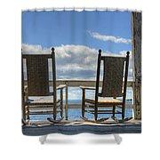 Star Island Rocking Chairs Shower Curtain