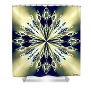 Star Jewel Fractal Shower Curtain