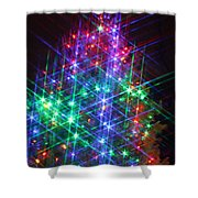 Star Like Christmas Lights Shower Curtain