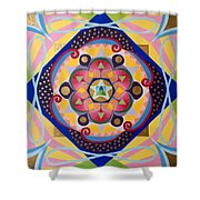 Star Mandala Shower Curtain