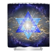 Star Of David And The Milky Way Shower Curtain
