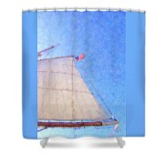 Star Of India. Flag And Sail Shower Curtain