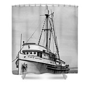 Star Of Monterey In Monterey Harbor Circa 1948 Shower Curtain