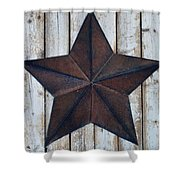 Star On Barn Wall Shower Curtain