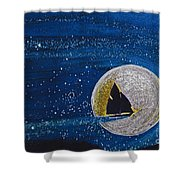 Star Sailing By Jrr Shower Curtain by First Star Art