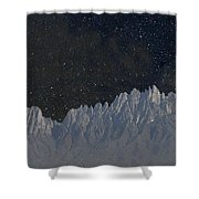 Star Shine Organ Mountains Shower Curtain