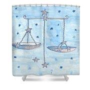 Star Sign Libra Shower Curtain