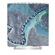 Star Sign Scorpio As A Dragon Shower Curtain