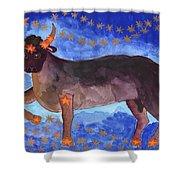 Star Sign Taurus Shower Curtain