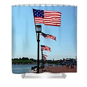 Star Spangled Banner Flags In Baltimore Shower Curtain