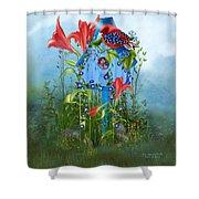 Star Spangled Birdie Shower Curtain