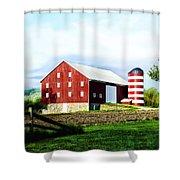 Star Spangled Farm Shower Curtain