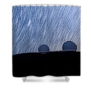 Star Trails Above Keck Shower Curtain