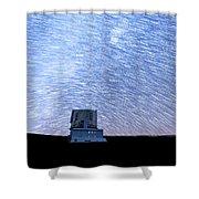 Star Trails Above Subaru Telescope Shower Curtain