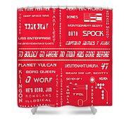 Star Trek Remembered In Red Shower Curtain by Georgia Fowler