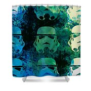 Star Warriors Watercolor 1 Shower Curtain