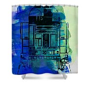 Star Warriors Watercolor 4 Shower Curtain