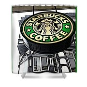 Starbucks Logo Shower Curtain
