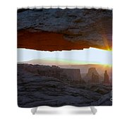 Starburst At Mesa Arch Shower Curtain