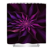 Starburst Pinwheel Pink Violet Shower Curtain