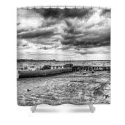 Starcross Harbor Shower Curtain