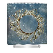 Stardust And Pearls Shower Curtain