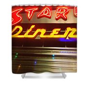 Stardust Diner - New York City Shower Curtain