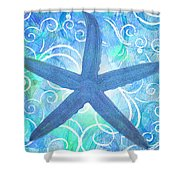 Starfish By Jan Marvin Shower Curtain