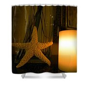 Starfish Candleglow Still Life Shower Curtain