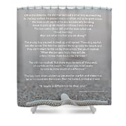 Starfish Make A Difference  Shower Curtain