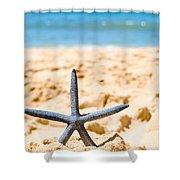 Starfish On Algarve Beach Portugal Shower Curtain