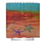 Starfish Shower Curtain by PainterArtist FIN