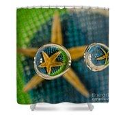 Starfish Refraction Shower Curtain