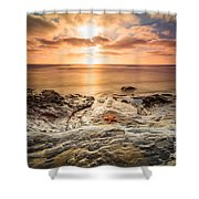 Starfish Sunset Shower Curtain