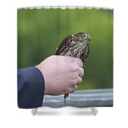 Staring Back Shower Curtain