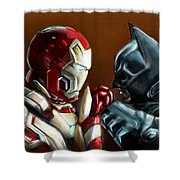 Stark Industries Vs Wayne Enterprises Shower Curtain