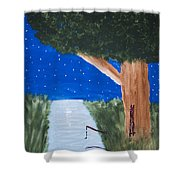 Starlight Fishing Shower Curtain by Melissa Dawn