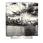 Starlight Over The American Airlines Arena Shower Curtain