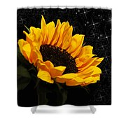 Starlight Sunflower Shower Curtain