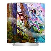 Starr Lynn Holly Berry Fairy Shower Curtain