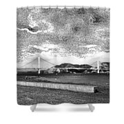 Starry Bay Day Shower Curtain